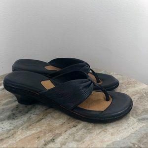 d77533ed83a41 Born Shoes - Born Sandals Navy Blue size 6.5 Wedges comfort